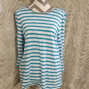 Chico's size 2 (ladies L 12 to 14) 3/4 sleeve top